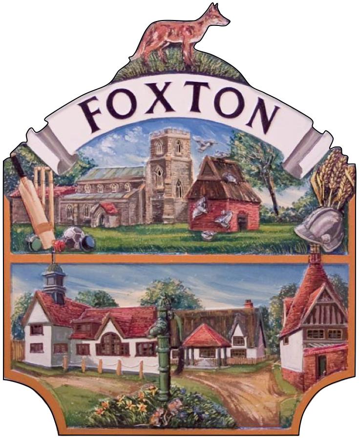 Foxton village sign