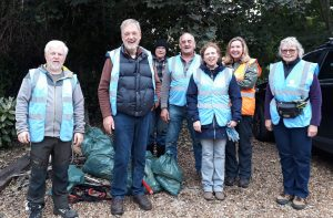 A group of litter pick volunteers